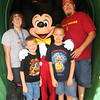 Our family with Mickey.  What more could you ask for?